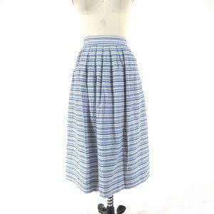 6 - J Crew Womens Blue & White Striped skirt